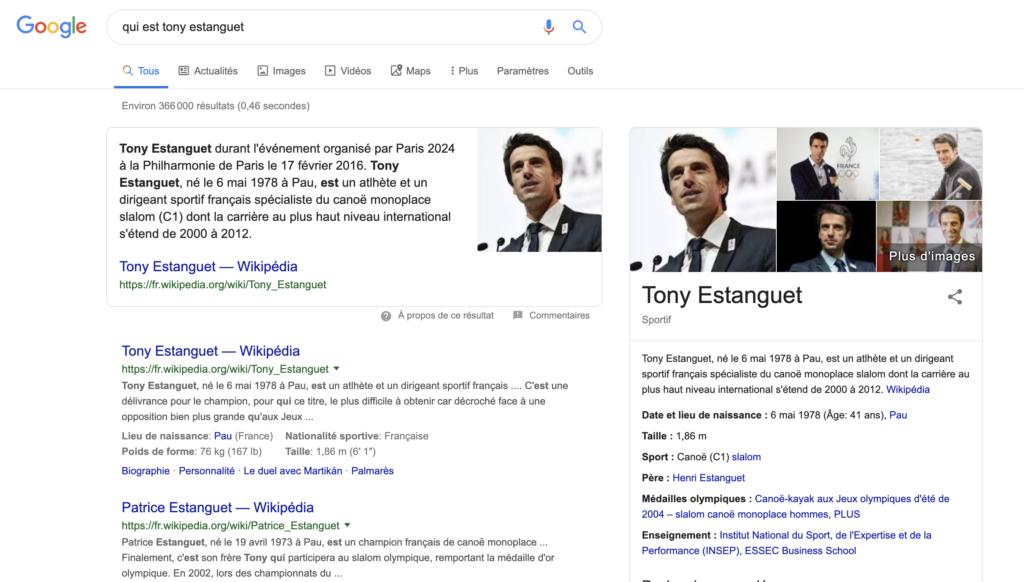Google requêtes d'information